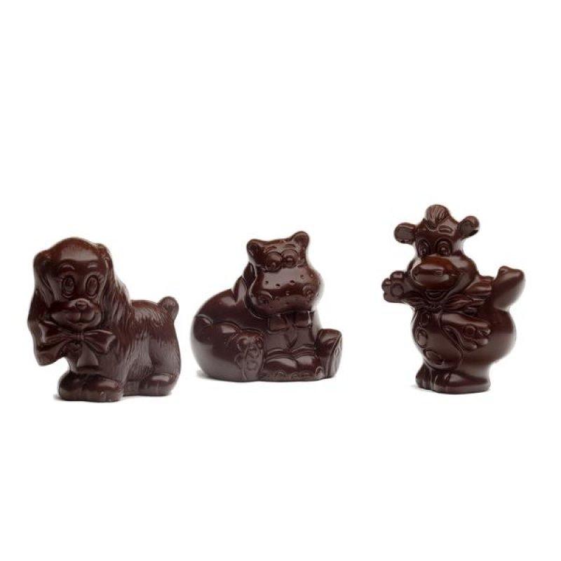 Figúrky z tmavej čokolády - mix